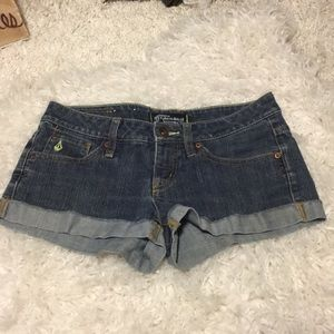 🍀6/$60 Volcom US size 3 shorts Denim Supercute